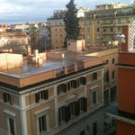 View from the 6th floor of the Hotel Rimini, Rome