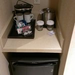Coffee/fridge area