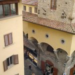End of Ponte Vecchio bridge and cafe from room 510