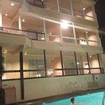 Motel feeling outside by pool