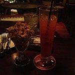 New Orleans Campechana and liquor.