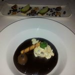 chocolate soup with truffle & ice-cream