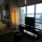 View of living area in Hudson Suite