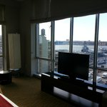 View from the living area in the Hudson Suite