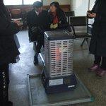 機張駅には採暖用ストーブが有ります。