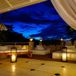 Villa 9 Patio at Dusk