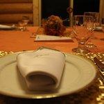 table setting of dinner