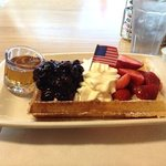 Stars and Stripes Waffle!