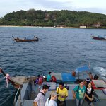 From the ferry, you will need to transfer to these longtail boats to get to the hotel