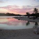 Sunset from Aquana Beach Resort Vanuatu