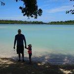 Biggest Natural Pool in Vila! 400 metres long at Aquana Beac
