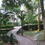 Garden and villas.