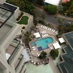 View of pool area from the 18th floor