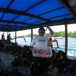 Roomy dive boat