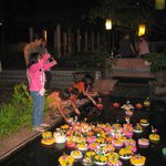 Loy Kratong on the Hotel grounds