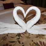 Оформление полотенец