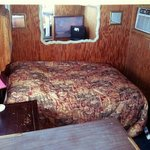 The bed/TV area (Boat #15)