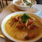 red curry and coconut soup