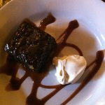 Sticky ginger toffee pudding with cream - The Cowherds - Jan 2013