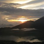 View from Mt. Batur at sunrise