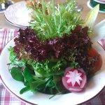 Restaurant im Hotel Huberwirt am 26.01.2013 - Beilagen Salat zu Euro 2,60 :-))