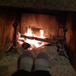 my feet & my fire!