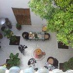 Gården från terrassen