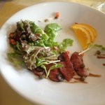 Smoke Duck breast salad