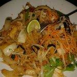 wok-fried tofu and veg noodles