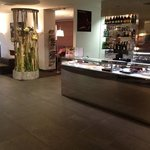 lobby and chocolate shop