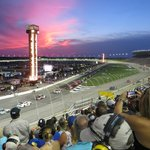 Night sky over Atlanta Speedway