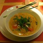 Bio Garnelen Curry with prawns