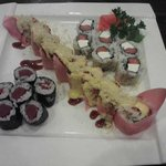 Angry Dragon Roll with Tuna and Philly Rolls