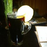the lovely mulled wine in the lounge bar