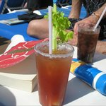 They have clamato juice and can make a great ceasor:)