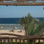 La spiaggia vista dalla nostra camera