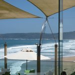 Restaurant that has such a lovely view of the sea and beach