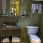 banheiro espaçoso e sempre limpinho e cheiroso