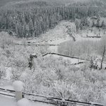 During snow