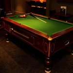Upstairs pool table