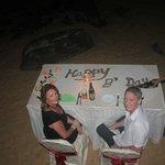 Birthday on the beach provided by Beach Grove Villas