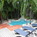Private courtyard/pool for Hemingway Suite
