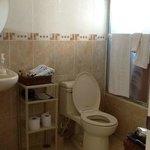 Modern private hotwater en suite bathroom
