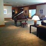 piano on 1st floor lobby