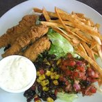 Tortilla Chicken Salad with Crispy Chicken
