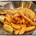 grilled cod and chips.