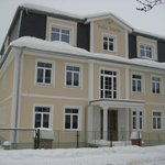 вид на виллу зимой 2011 в момент строительства