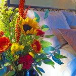 Flowers for Guest Rooms at the Amethyst Inn B&B