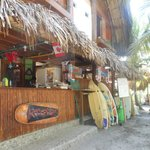 Reception/restaurant/surfboard rentals
