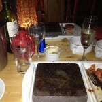 empty black rocks after a delicious fillet steak
